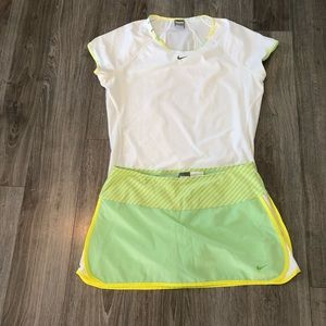 Nike Golf outfit top and skirt size LG